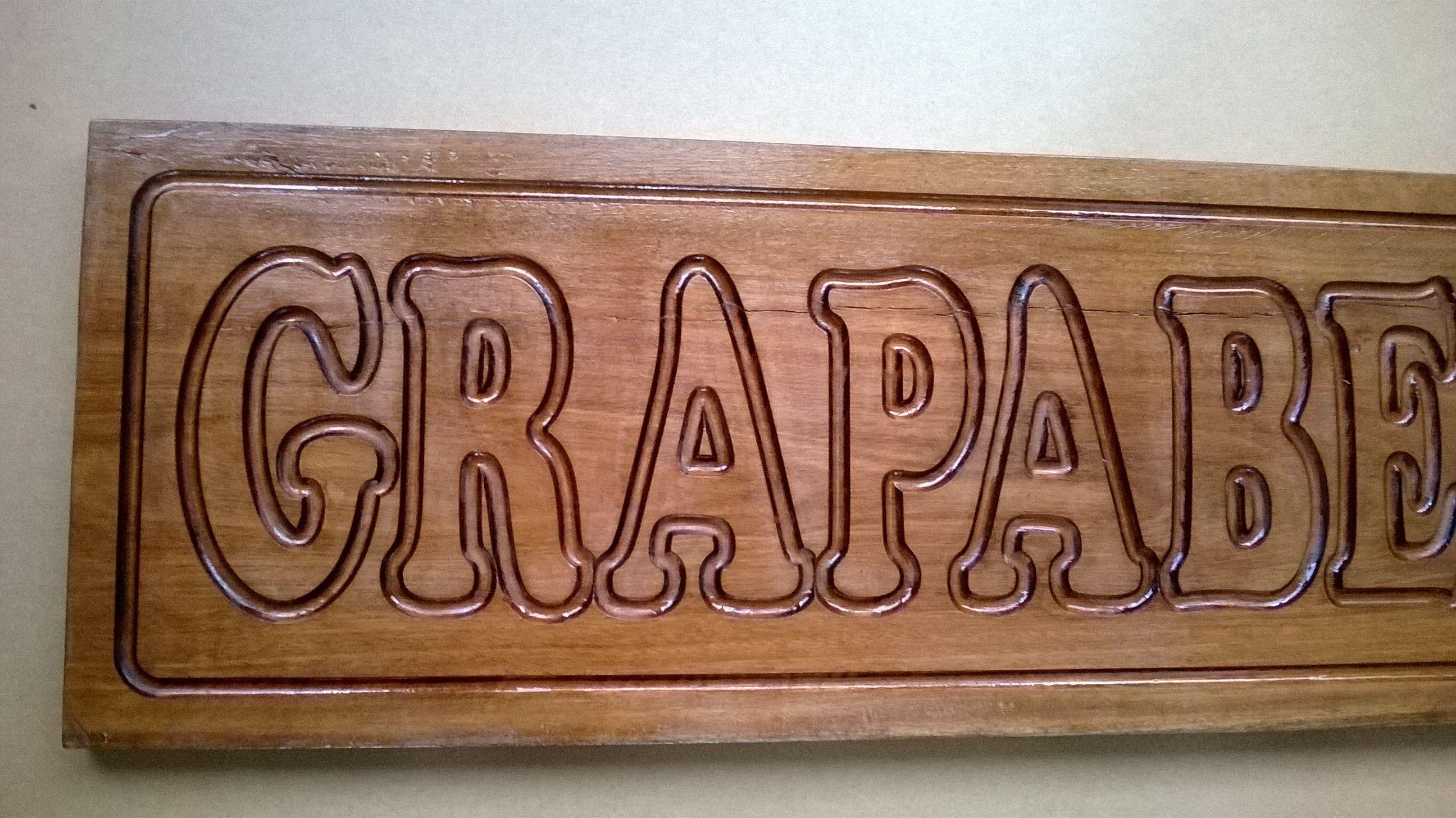 Cartel en madera para nombre de casa grabado en bajo - Casa letras madera ...