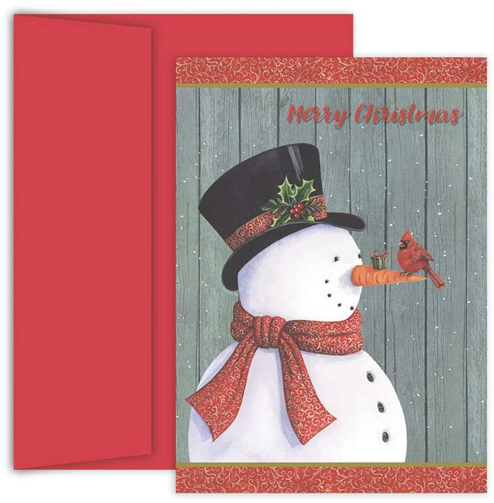 Masterpiece Studios Classy Snowman Boxed Holiday Cards | Cards ...