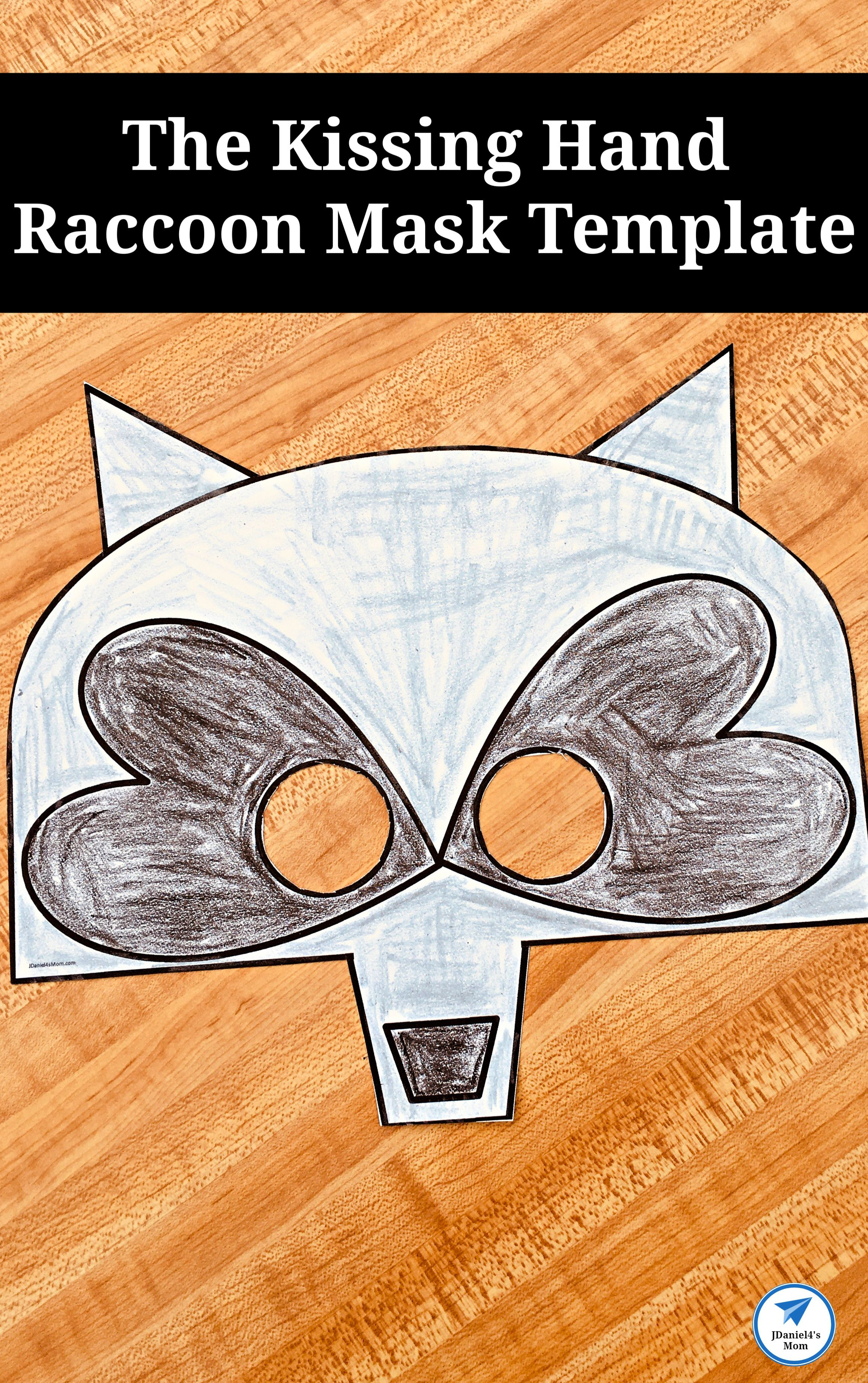 The Kissing Hand Raccoon Mask Template