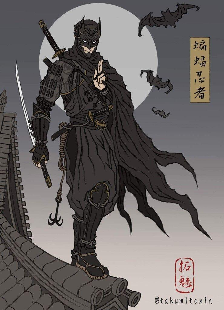 Samurai Warrior Batman | Fan art batman, Arte batman, Super heroi