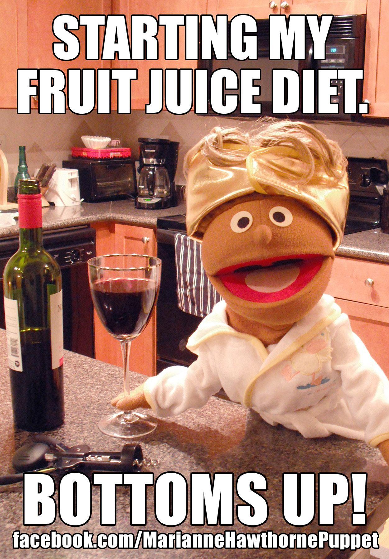 Starting My Fruit Juice Diet Bottoms Up Mom Wine Meme