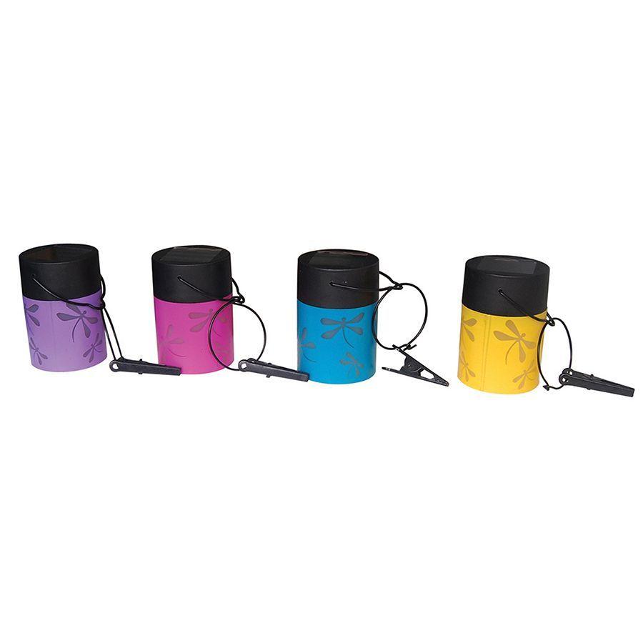 Smart Solar 3784WRM4 Fiesta Hanging Umbrella Lanterns Assorted Colors