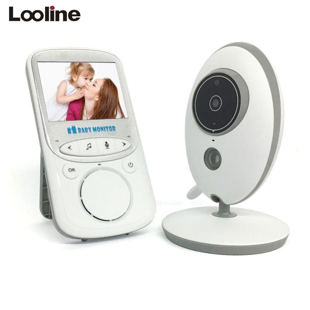 Looline 2 4 Inch Wireless Baby Monitor Baby Nanny Security Camera Baby Radio Baby Sitter 2 Way Talk With Wireless Baby Monitor Video Monitor Baby Baby Monitor