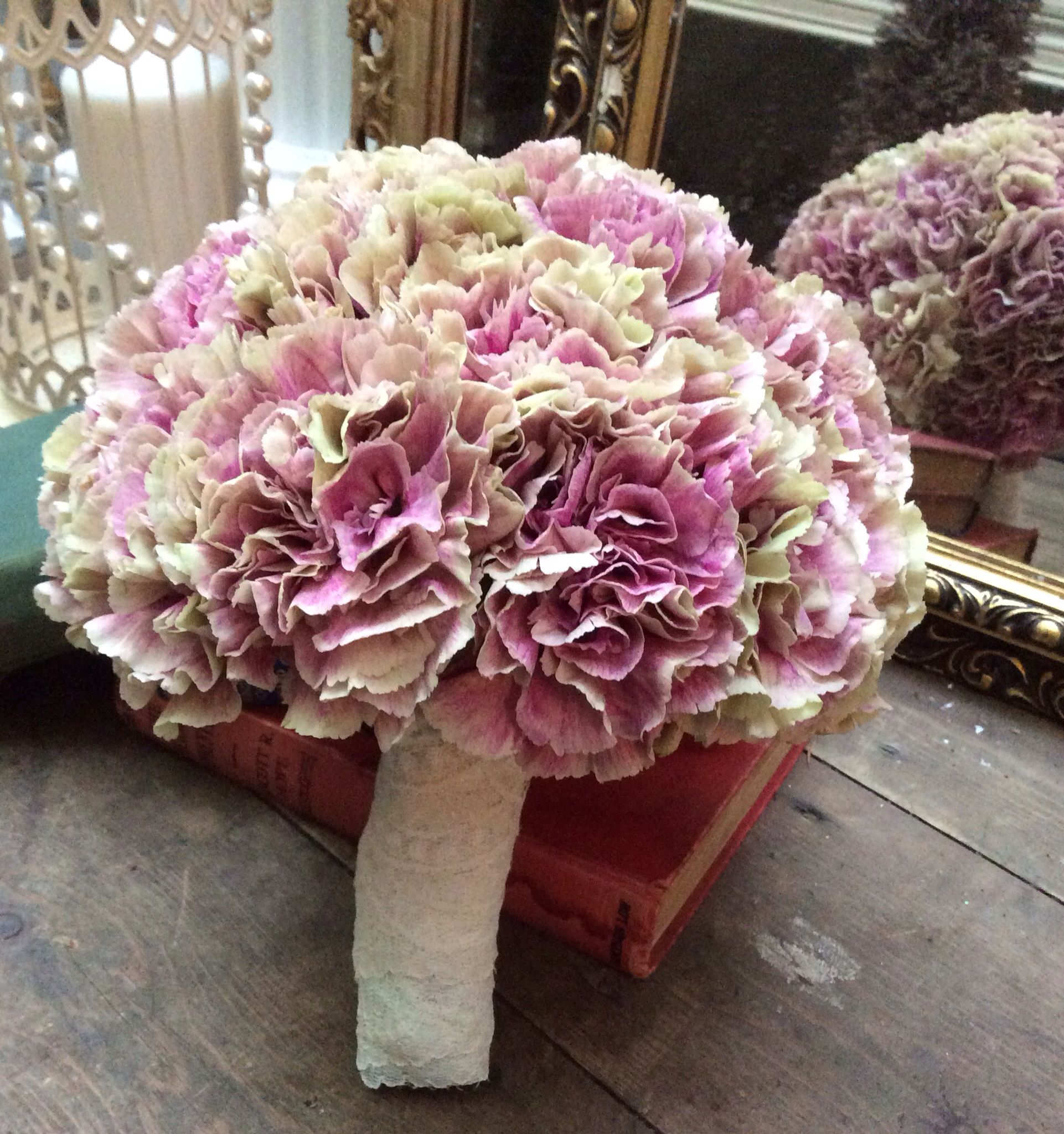 Vintage carnation bouquet xx perfect for a 1950's style wedding