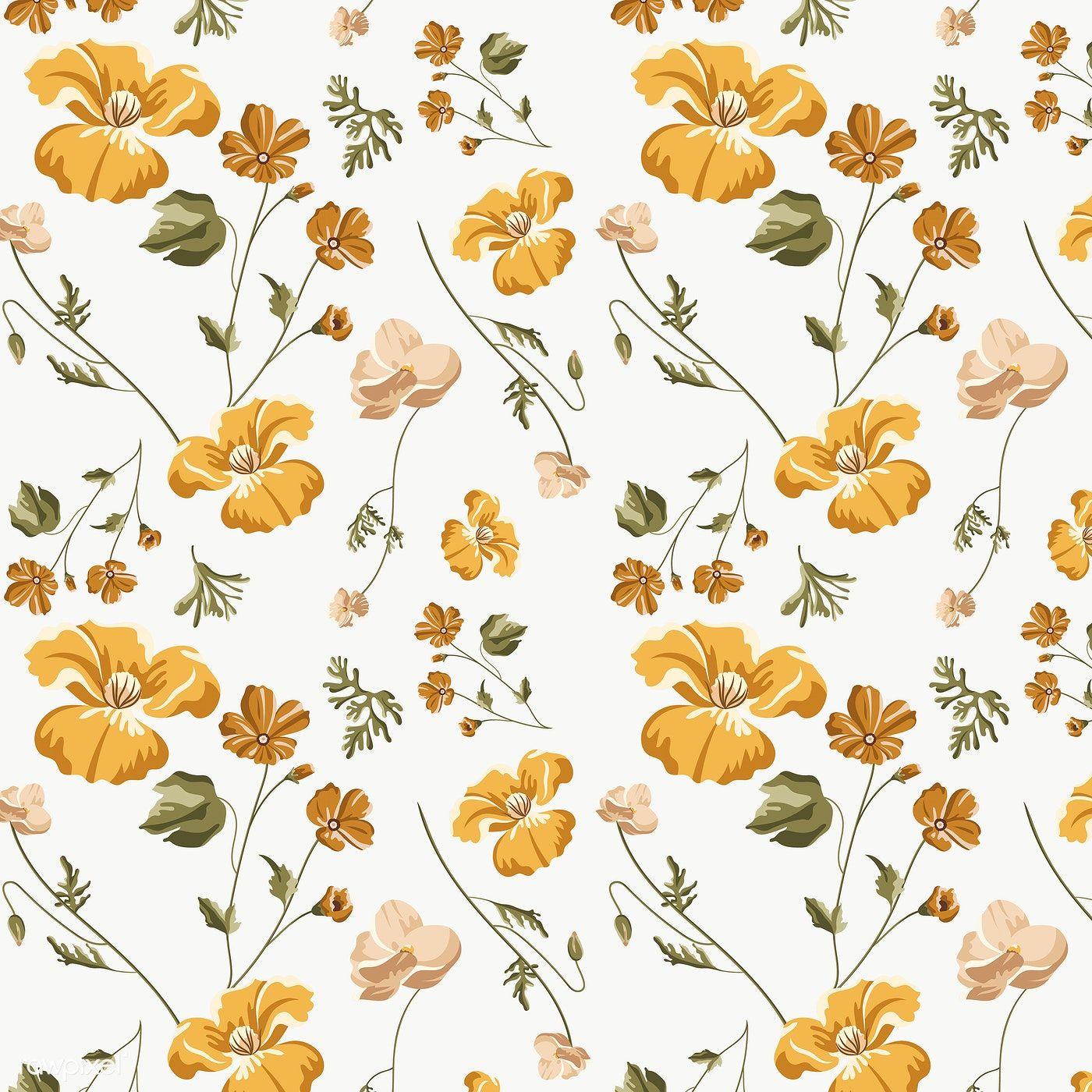 Yellow Flowers Illustration Design Element Premium Image By Rawpixel Com Aew Vintage Flower Backgrounds Yellow Flower Pictures Yellow Flower Wallpaper