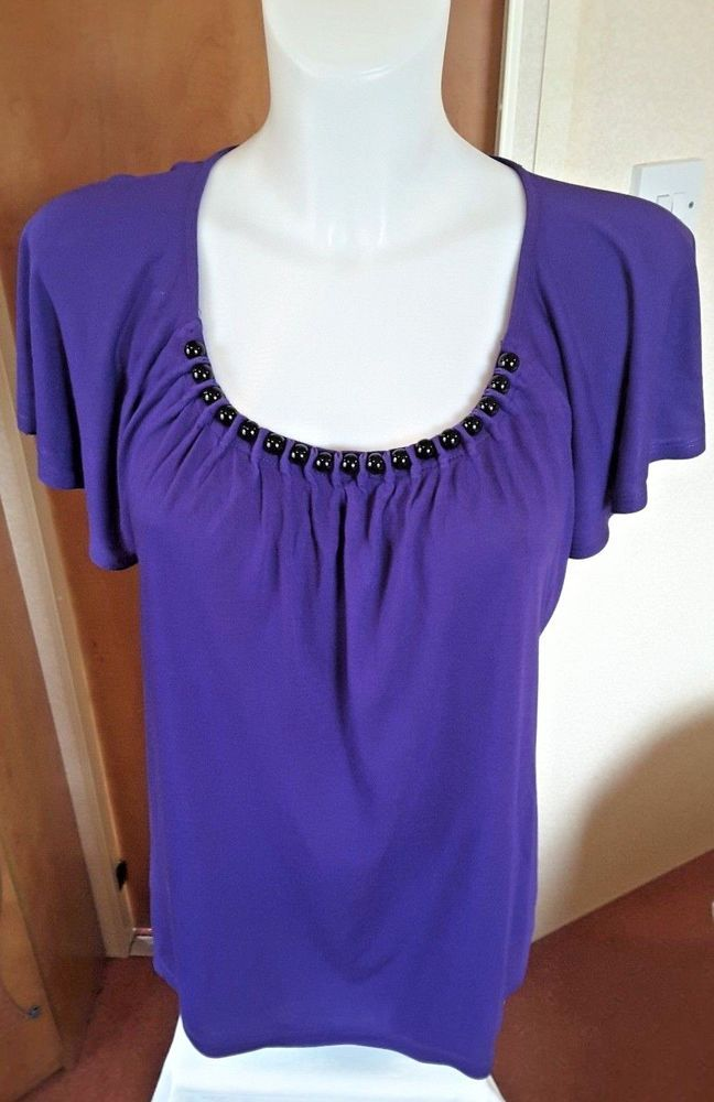 Women Top Party Blouse Purple Mix Sleeveless Per Una M/&S UK Size 14 /& 16