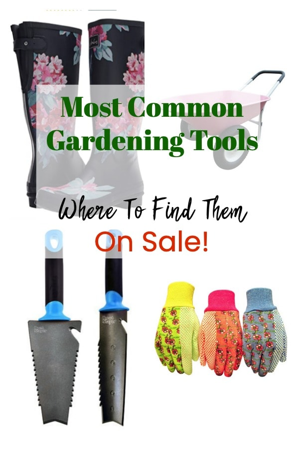 Do you live in a space with a garden to take care of? I've compiled a helpful list of some of the most common gardening tools and their uses. It's so much easier to get any job done with tools on hand! #gardening #gardentools #summergarden #vegetablegarden #outdoorliving #greatgardens