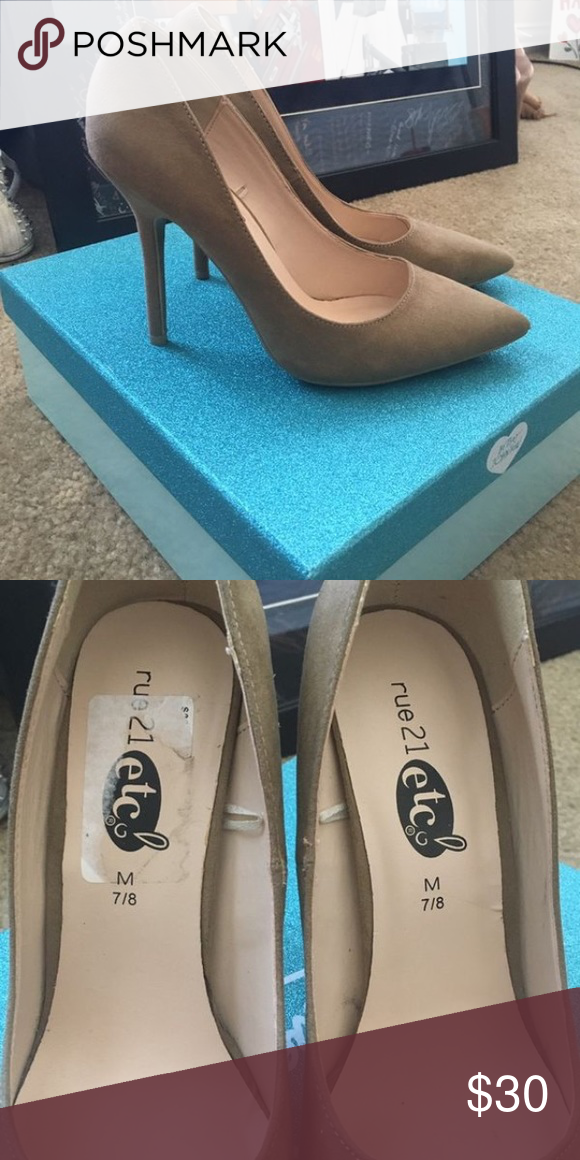 Pointed toe stilettos Worn once , too small for me . Rue21 Shoes Heels