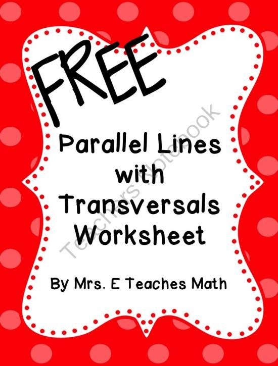 parallel lines with transversals extra practice worksheet from mrs eteachesmath on. Black Bedroom Furniture Sets. Home Design Ideas