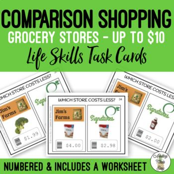 Pin On Adulting Made Easy Pins Comparison shopping worksheets for students