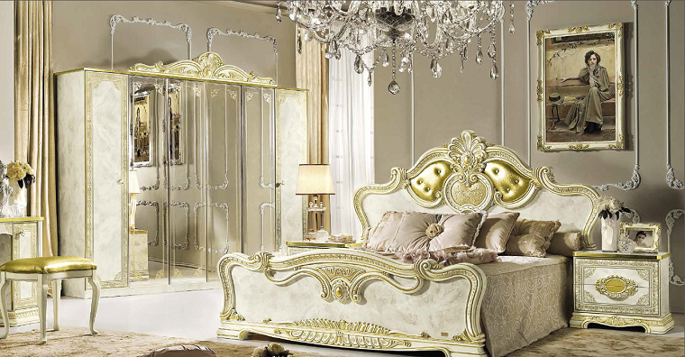 Decoration Chambre Parentale Meuble Style Baroque Moderne