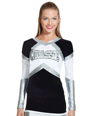 ed7b948005eb3b Inferno Metallic Stretch Cheerleading Uniform Shell Top by Chassé ...