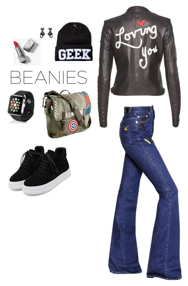 #beanies by cat-forsley on Polyvore featuring Sonia Rykiel, Alice + Olivia, Marvel, Apple, Burberry, beanies, apple and Fall2016 @catforsley