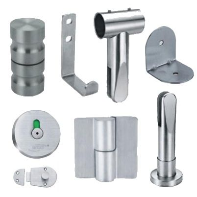 Jialifu Toilet Partition Accessories Stainless Steel Series Partition Hardware Toilet
