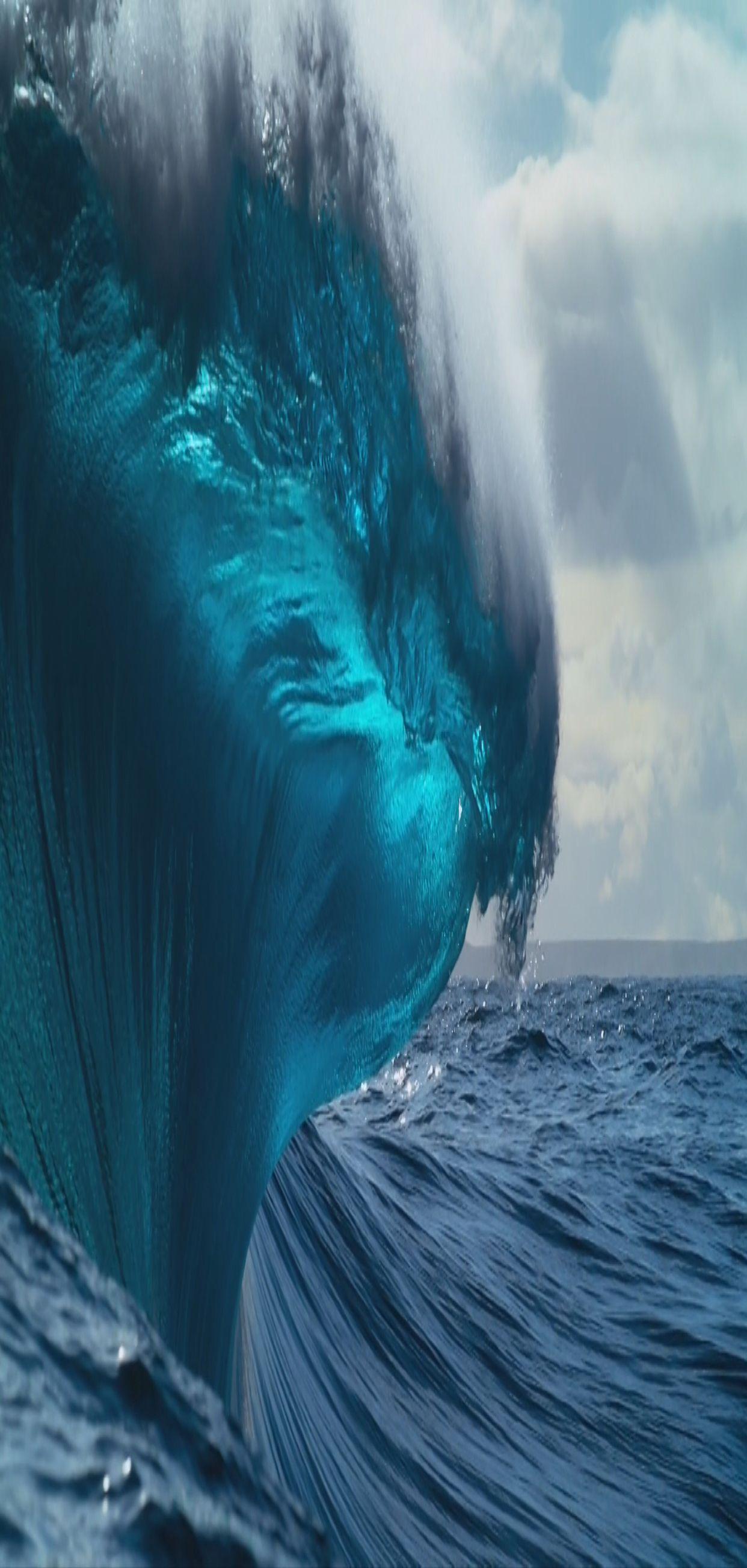 Ios 11 Iphone X Aqua Blue Water Underwater Wave Ocean Apple Wallpaper Iphone 8 Clean Beauty Colour Blue Planet Ii Ocean Wallpaper Ios 11 Wallpaper