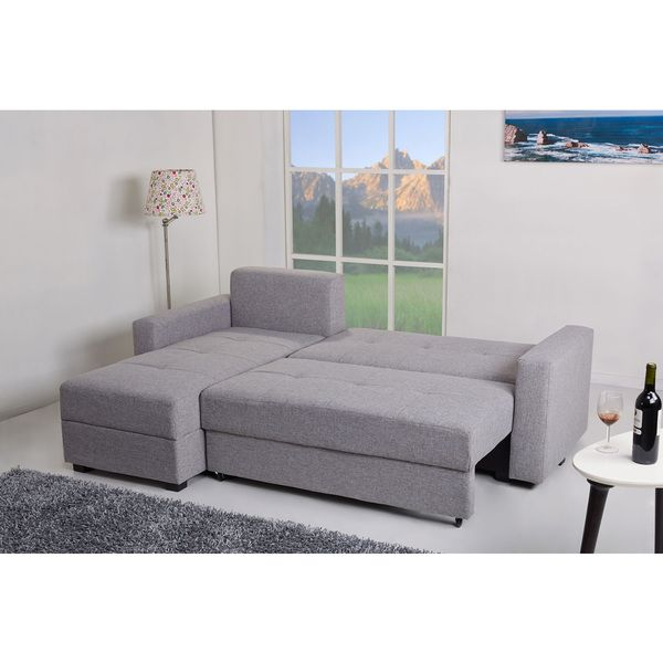 Aspen Convertible Sectional Storage Sofa Bed Foam Sofas Ash Overstock Shopping Big Discounts On