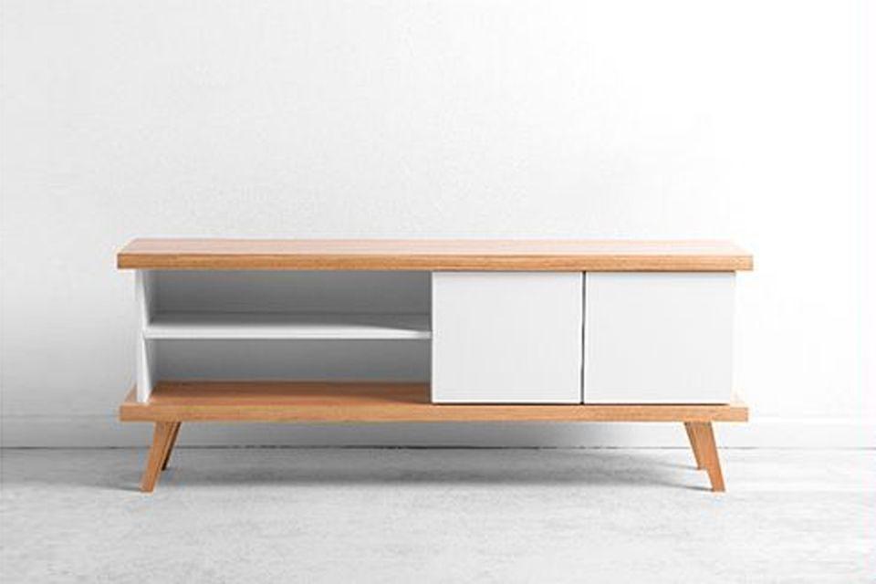 Credenza Con Tv : Credenza moderna eos ante madia legno rovere grigio mobile