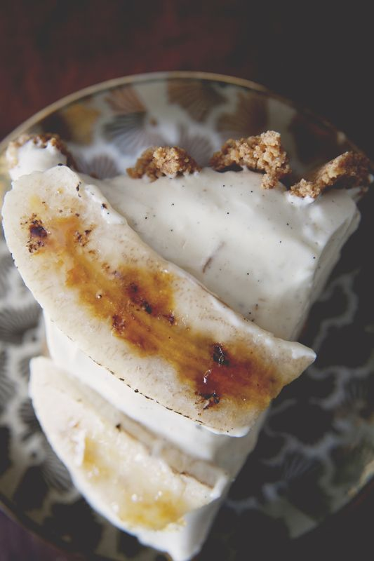 banana cream pie w dark chocolate ganache & cardamom ...