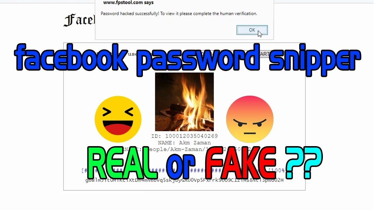 Facebook password snipper | is It fake or real ? Review by sajidz