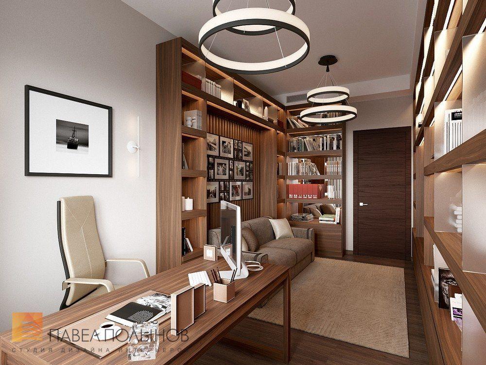 Фото дизайн интерьера кабинета из проекта «Дизайн интерьера трехкомнатной  квартиры 127 кв.м., ЖК «Парадный ква… | Дизайн интерьера, Интерьер, Дизайн  домашнего офиса