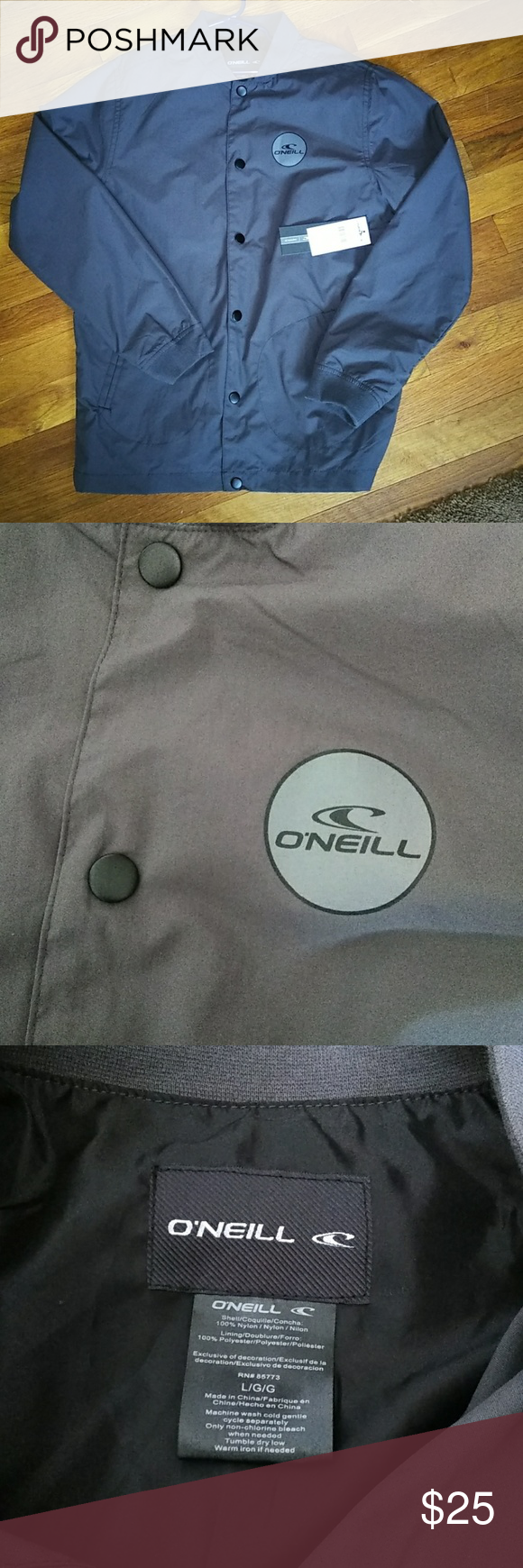 Nwt O Neill Windbreaker Rain Jacket Yl Nwt O Neill Roster Franchise Jacket Lightweight Perfect For Rainy And Windy Fall An Jackets Rain Jacket Clothes Design