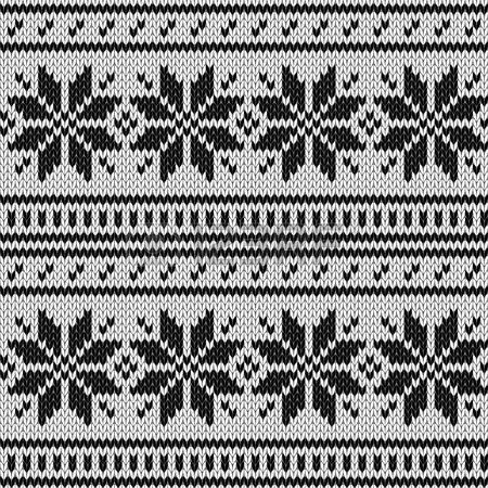 Escandinavo jersey de punto sin fisuras patrón geométrico en blanco ...