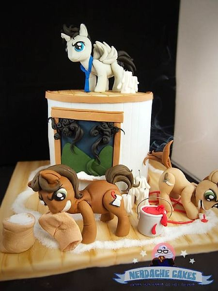 Nerdache Cakes - My Little Pony/Supernatural Cake!   via Cake Wrecks - Home - Sunday Sweets: Gettin' Geeky Wit It