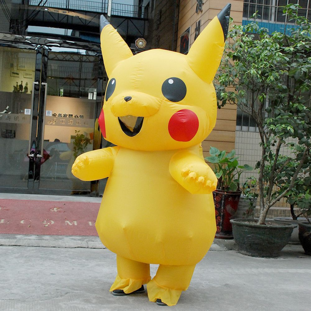halloween costumes for women inflatable pikachu costume adult pokemon cosplay costumes onesie mascot - Pikachu Halloween Costume Women