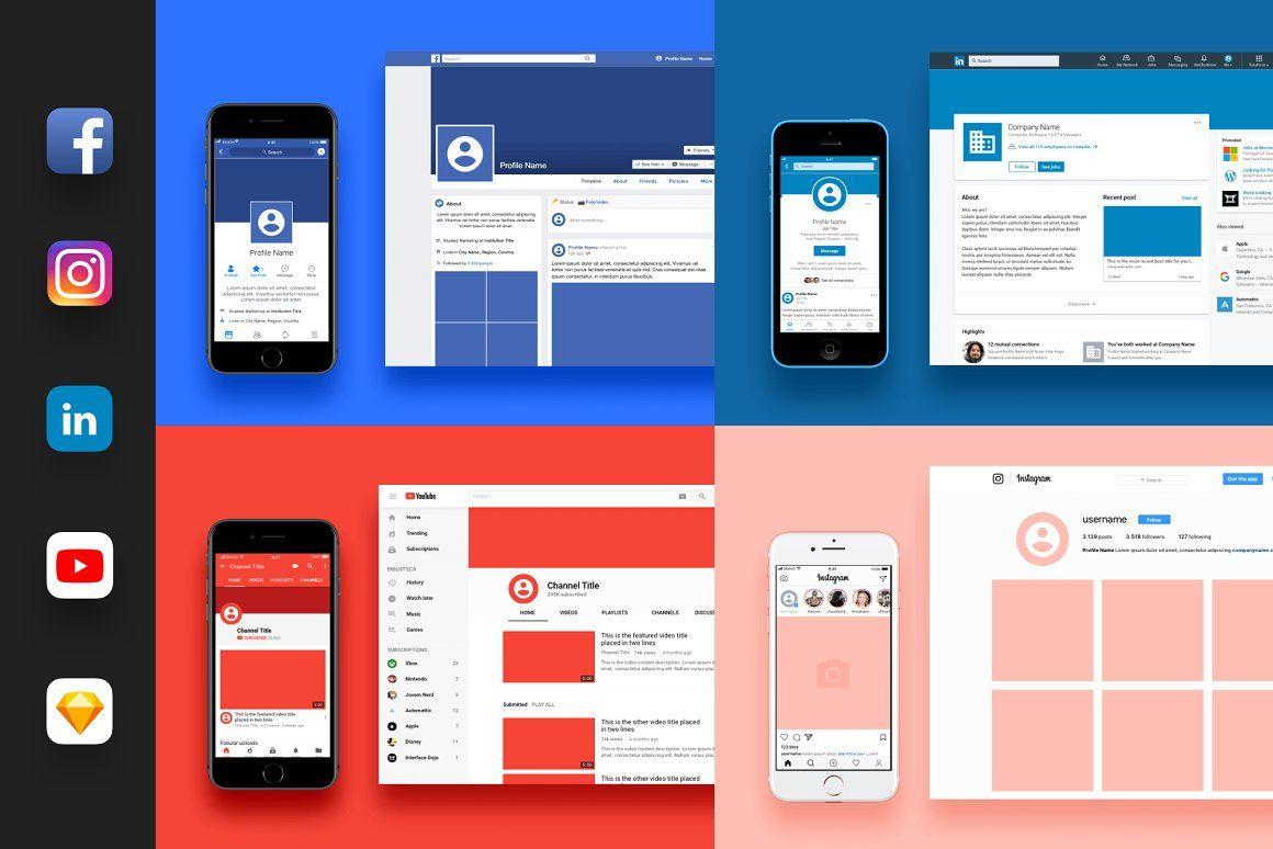 Top 27 Free Psd Instagram Mockup Templates Social Media Branding Social Media Template Instagram Mockup