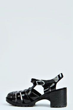 1c522dd22f8 Frances Block Heel Jelly Sandal at boohoo.com  26