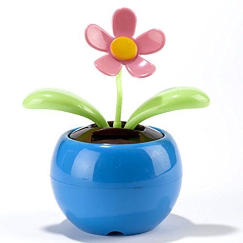 Niceeshop Tm Magic Cute Flip Flap Swing Dancing Solar Powered Flower Toys Blue Niceeshop Http Www Amazon Com Dp B00h1m Flower Toy Solar Flower Flower Pots