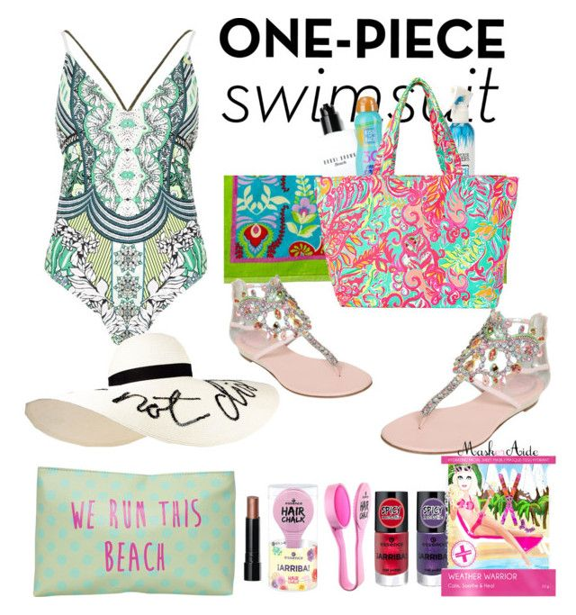 """""""Untitled #124"""" by heavenlystar on Polyvore featuring Vera Bradley, Bobbi Brown Cosmetics, Not Your Mother's, Kiss My Face, Lilly Pulitzer, René Caovilla, T-shirt & Jeans, River Island, MaskerAide and Eugenia Kim"""