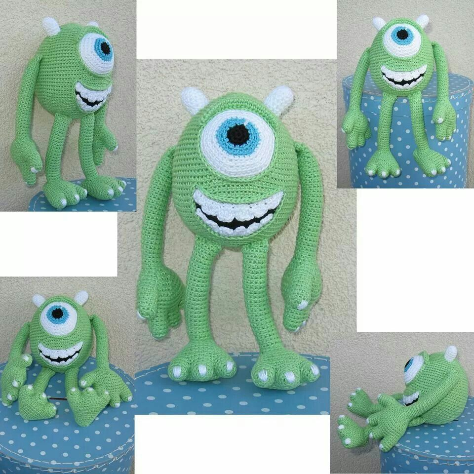 Free pattern for Mike from monsters inc! | Crochet | Pinterest ...