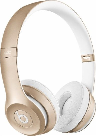 4c91e17b378 Beats by Dr. Dre - Solo 2 On-Ear Wireless Headphones - Gold - Front Zoom
