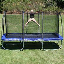 skywalker trampolines platinum edition 15 ft rectangle trampoline and enclosure