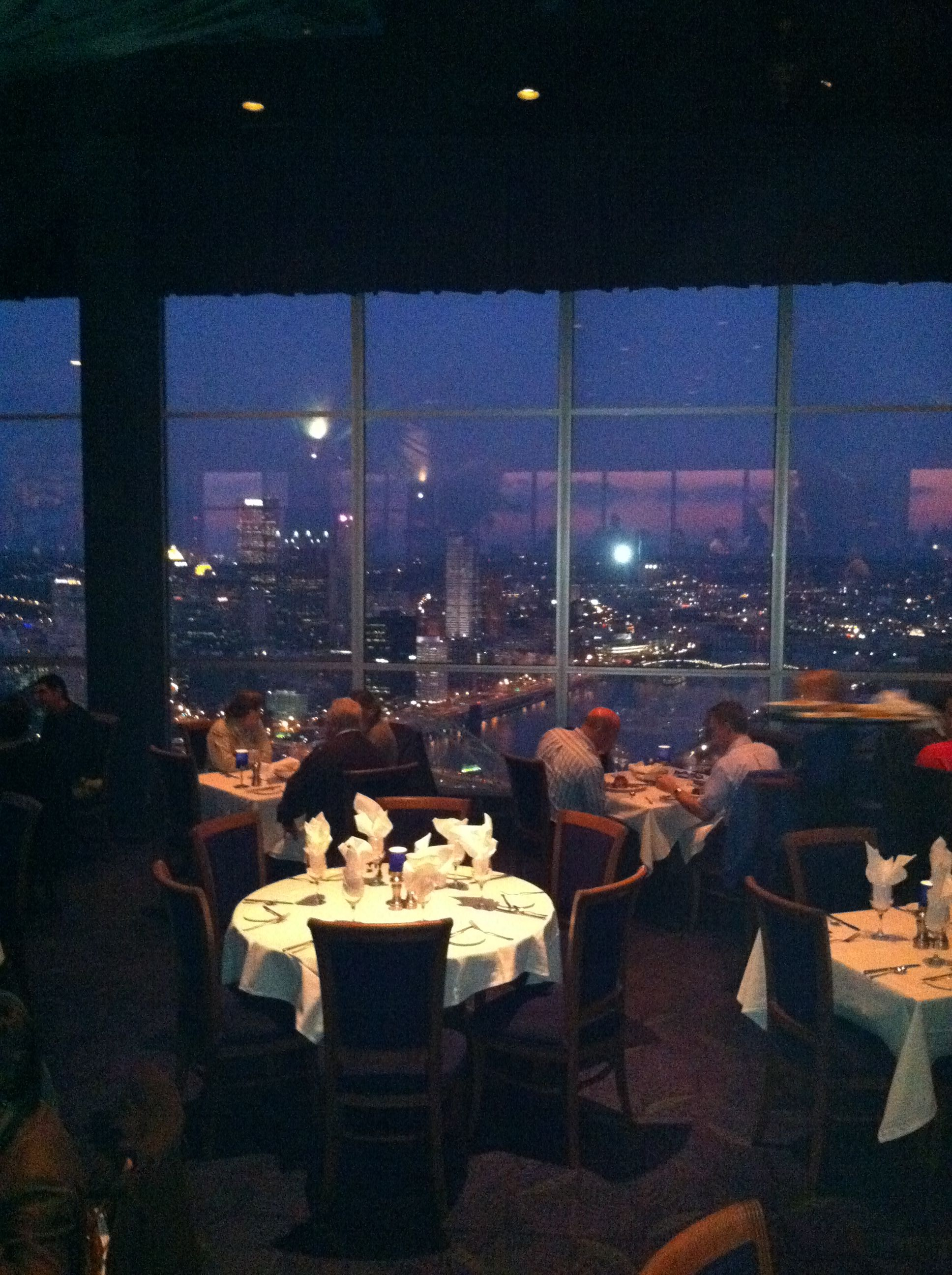 This Is A View Of Pittsburgh From Restaurant On The Top Mountain