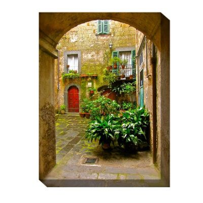 Italian Courtyard Outdoor Canvas Art Grandin Road Italian Courtyard Outdoor Canvas Metal Tree Wall Art
