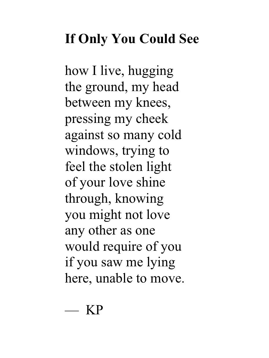 Kp If Only You Could See Words Feelings Knowing You