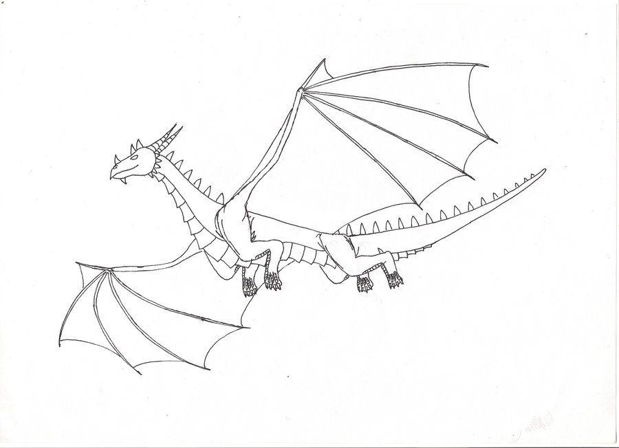 Flying Dragon Lineart Dragon images, Dragon, Drawings