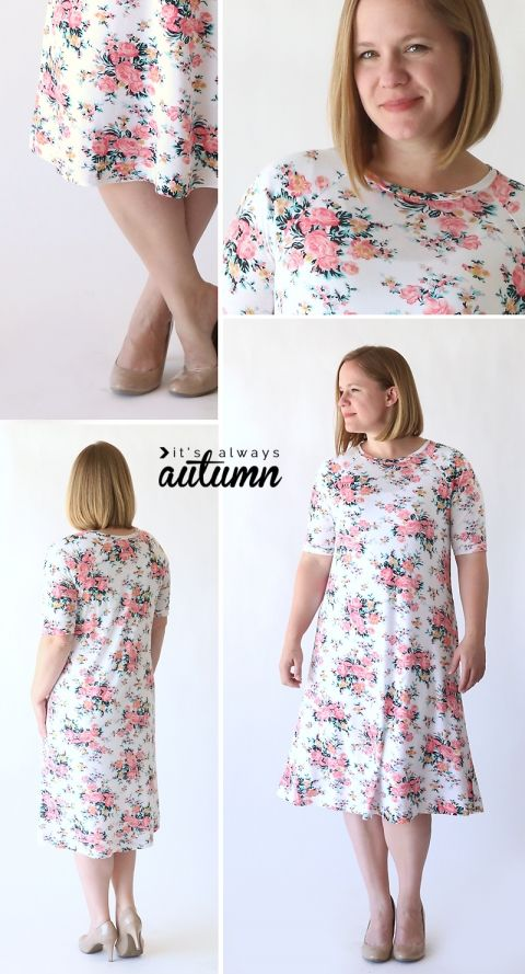 the easy tee swing dress | Sewing Ideas | Pinterest | Costura ...