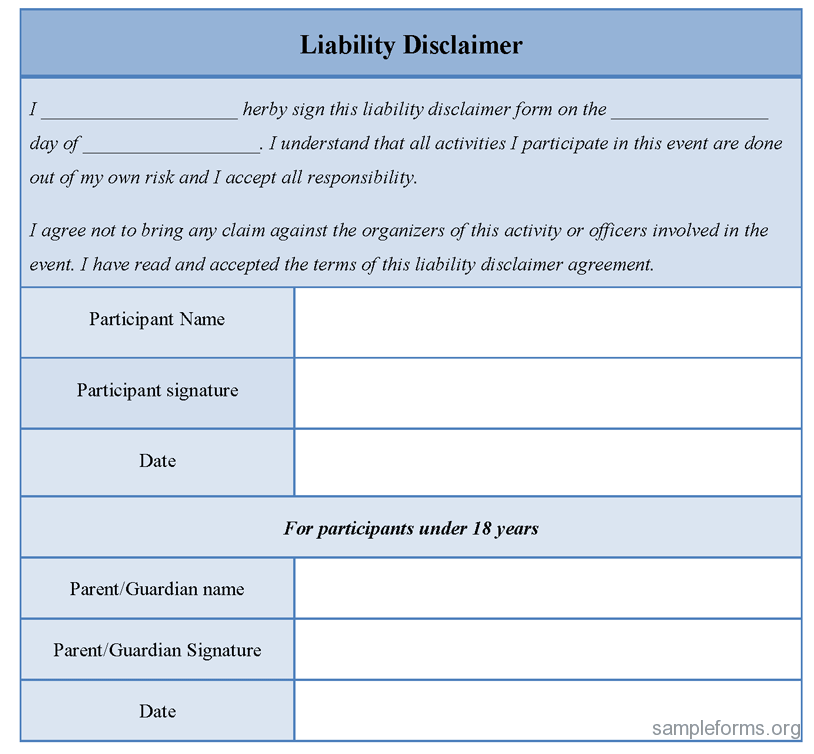 Liability Waiver Release Form  Google Search  AntiBully