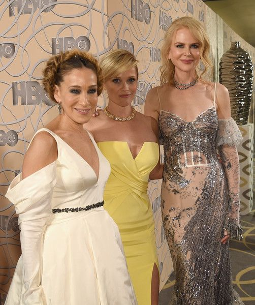 Actresses Sarah Jessica Parker, Reese Witherspoon and Nicole Kidman attend HBO's Official Golden Globe Awards After Party.