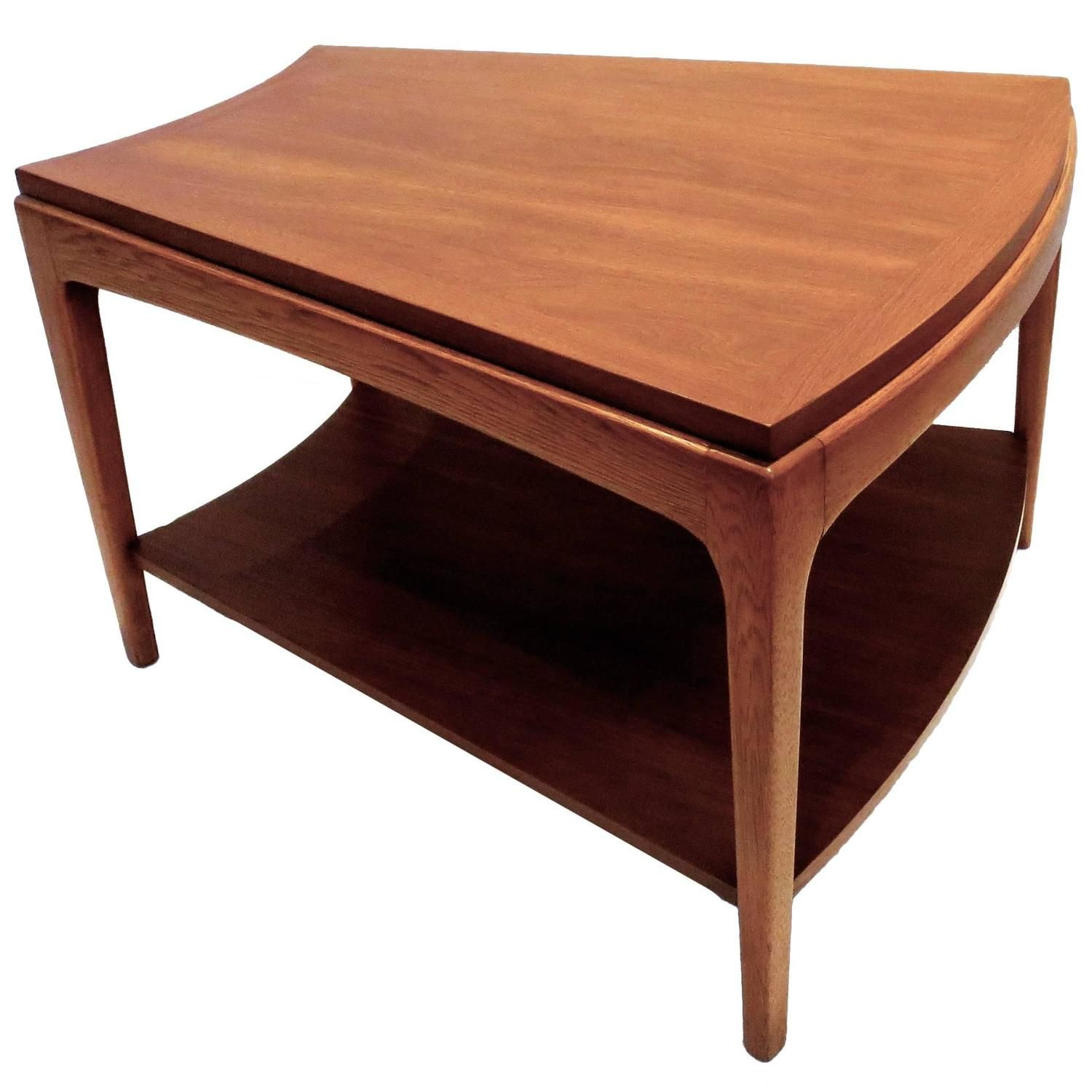 1950s American Modern Trapezoid Shape Cocktail End Table In Walnut 1stdibs Com Table End Tables Table Furniture