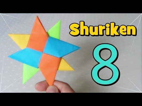 Shuriken Origami Estrella Ninja De Papel Youtube Origami Estrellas Ninja Shuriken