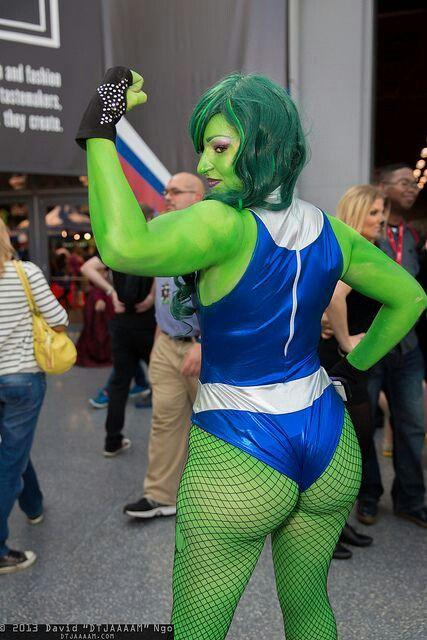Green girl hulk naked