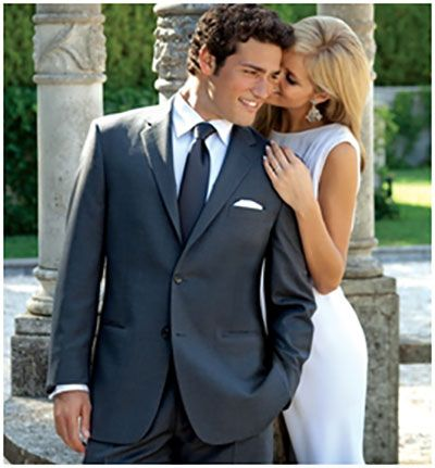 2016 Groom And Best Man Attire Charcoal Grey Suit Chwv
