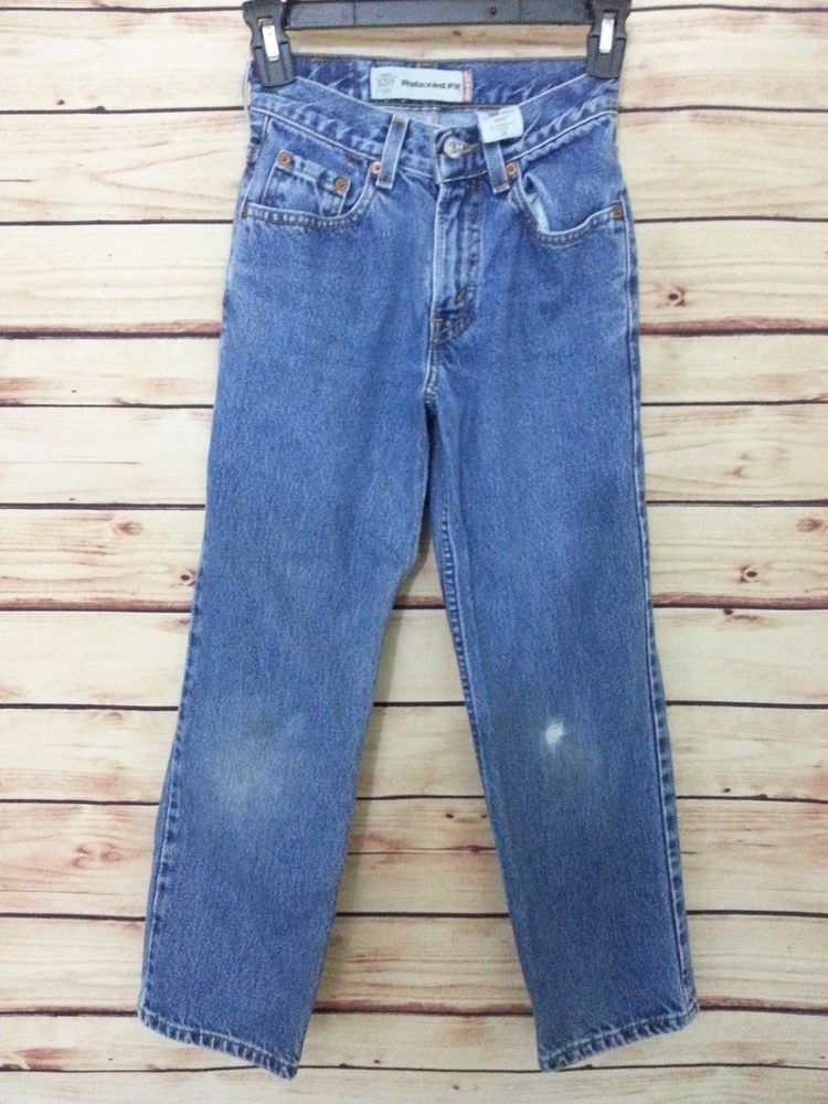 b5e443bedd1 Boys Levi s jeans 550 relaxed fit size 10 slim 23 X 25 distressed  Levis   ClassicStraightLeg  Everyday
