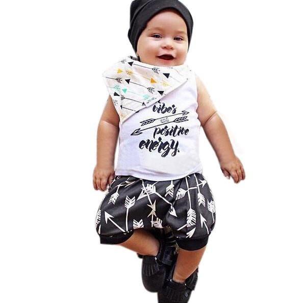 0a8c1d444 Kids Clothes Baby Boy Summer Clothes Set Vest Top Shorts Childrens ...