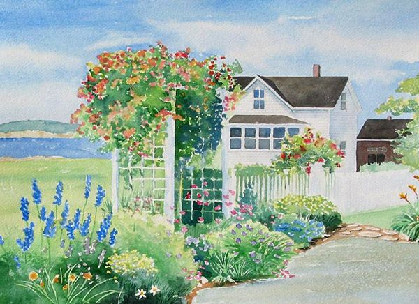 Cottage Garden Design Style #8 Romantic Cottage Style House And Garden With  White Picket Fence