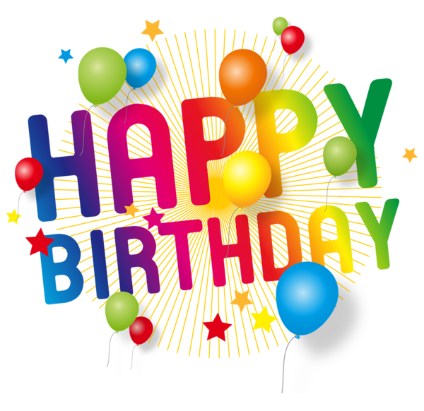 Happy Birthday Transparent Decoration PNG Picture